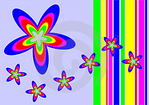 Vectorial Flower Pattern Stock Images - Image: 1598344