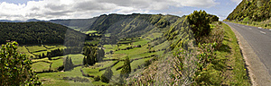 Green Valley Panorama Royalty Free Stock Photo - Image: 15901145