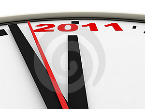 New Year's Clock Stock Photography - Image: 15901152
