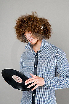 The Young Guy  Listens To Music Stock Photo - Image: 15902940