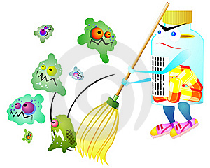 Medicine Against Germs Royalty Free Stock Images - Image: 15903119