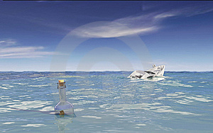 Message In A Bottle Royalty Free Stock Image - Image: 15903846