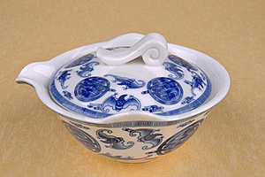 Chinese Blue Painting Tea Ware Stock Photos - Image: 15904943
