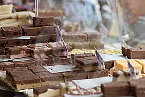 Chocolates, Fudges And Other Candies Royalty Free Stock Photos - Image: 15905528