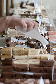 Chocolates, Fudges And Other Candies Royalty Free Stock Images - Image: 15905529