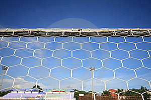 Behind A Goal Stock Image - Image: 15905711
