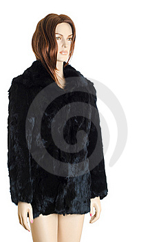 Mannequin In Fur Coat | Isolated Stock Photography - Image: 15906112