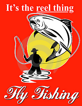 Fly Fisherman Catching Trout Royalty Free Stock Images - Image: 15908319