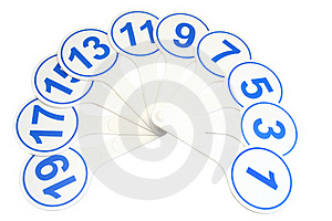 Pupil's Calculating Fan Royalty Free Stock Images - Image: 15909279