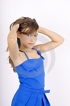 Teenage Girl Holding Her Hair Royalty Free Stock Images - Image: 15911899