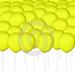 Yellow Balloon Stock Photos - Image: 15913523