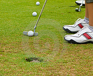 Putt Golf On Green Course Stock Photos - Image: 15914673