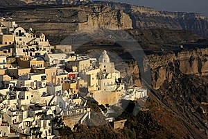 Fira, City In Greece Island Santorini Stock Photos - Image: 15914813