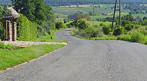 Road In A Hill Royalty Free Stock Images - Image: 15914929
