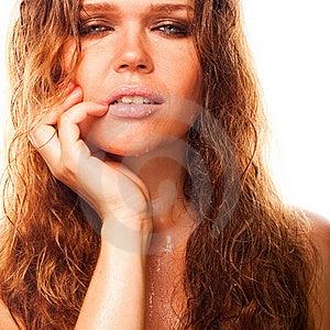 Natte Sexy Vrouw Stock Afbeeldingen - Afbeelding: 15916604