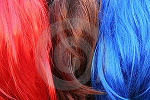 Stacks Of Colored Hair Stock Photos - Image: 15918373