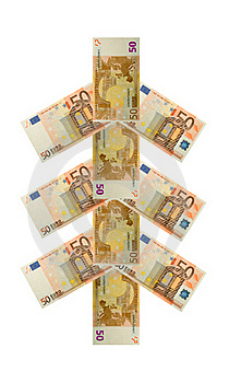 Money Tree Fifty Euro Banknote Royalty Free Stock Photography - Image: 15918677