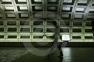 Person In Metro Station Royalty Free Stock Image - Image: 15918816
