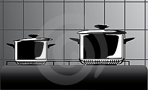 Series Of Images Of Kitchen Ware Royalty Free Stock Image - Image: 15919676