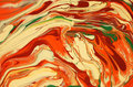 Swirling abstract orange pattern Stock Photos
