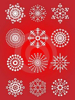 Snowflake Set Stock Photography - Image: 15920002