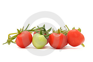 Green And Red Cherry Tomatoes Royalty Free Stock Photography - Image: 15923237