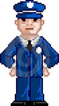 PixelArt: Police Man Royalty Free Stock Photo - Image: 15924025