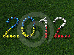 Soccer (football) Balls On Grass, 3d Illustration Royalty Free Stock Photo - Image: 15925385