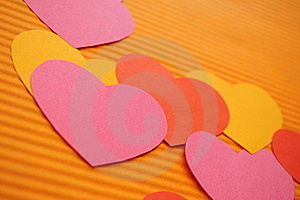 Colorful Cartoon Hearts Background. Royalty Free Stock Images - Image: 15925869