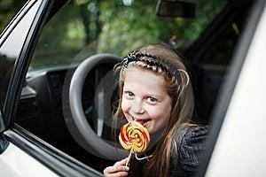 Girl In Car Stock Image - Image: 15925921