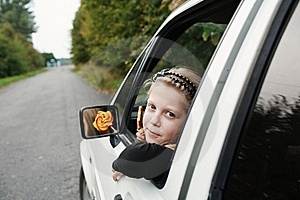 Girl In Car Stock Photos - Image: 15925983