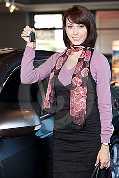 Woman Holding Car Key Stock Photography - Image: 15927062