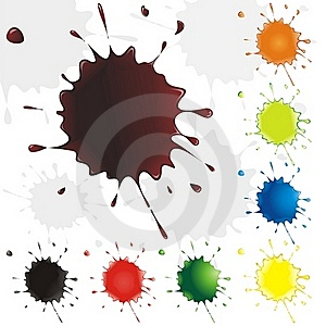 Collection Multicolored Drops. Blots. Royalty Free Stock Image - Image: 15927816