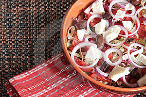 Greek Salad Stock Photo - Image: 15927840