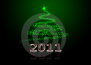 Abstract Christmas Tree Stock Image - Image: 15928061