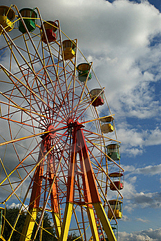 Attraction (Carousel) Ferris Wheel Royalty Free Stock Image - Image: 15928336