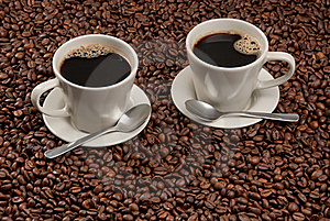 Two Cups Of Coffee Royalty Free Stock Photo - Image: 15929345