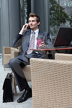 Businessman Drinking Coffee Stock Photography - Image: 15929392