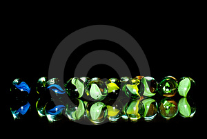 Marbles In The Dark Royalty Free Stock Photos - Image: 15930858