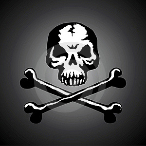 Illustration Of A Skull With Two Bones Royalty Free Stock Images - Image: 15933279