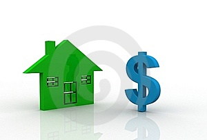 Dollar Symbol With House Sign Royalty Free Stock Image - Image: 15936576