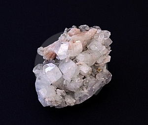 Quartz Rock Over Black Royalty Free Stock Photos - Image: 15937258