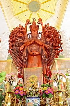 Goddess Of Thousand Hands Stock Photography - Image: 15938302