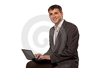 Man With Laptop Royalty Free Stock Images - Image: 15939449