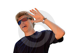 Young Man With 3d Glasses Royalty Free Stock Images - Image: 15939739