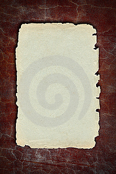 Vintage Paper On Old Red  Wall Stock Photos - Image: 15940053
