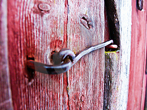 Door Hasp Royalty Free Stock Image - Image: 15940926