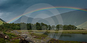 Rainbow Over Loch Etive Stock Image - Image: 15945341