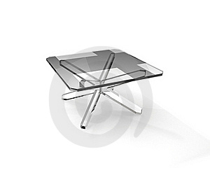 Quadratic Glass Table Royalty Free Stock Image - Image: 15945666