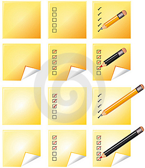 Notes Whith Pencil Royalty Free Stock Image - Image: 15946056